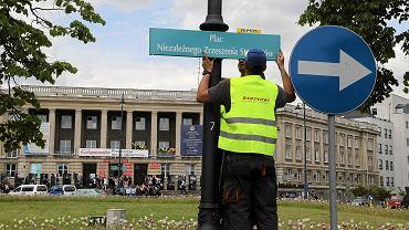 Zmiana nazwy Placu Uniwersyteckiego na Plac Niezależnego Zrzeszenia Studentów