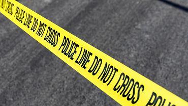 Policja USA na miejscu przestępstwa, zdjęcie ilustracyjne.