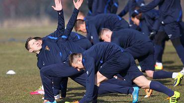 Rafał Murawski na pierwszym treningu z Pogonią