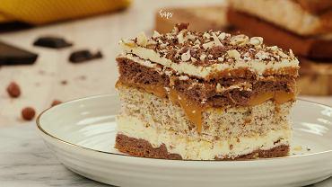 Ciasto a la Snickers z kremowym karmelem Hochland