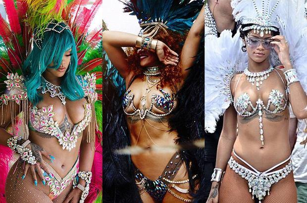 Rihanna znów w swoim żywiole. Gwiazda bawi się obecnie na festiwalu Crop Over na rodzinnym Barbadosie.
