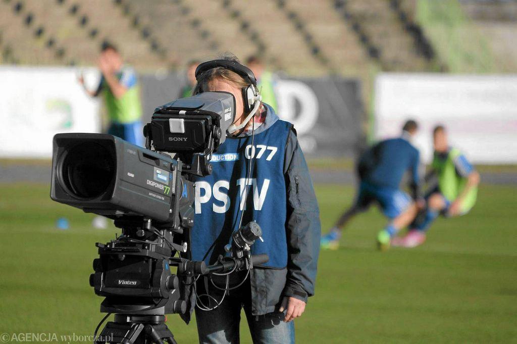 Rok 2014. Kamery na stadionie miejskim przy al. Piłsudskiego w Olsztynie