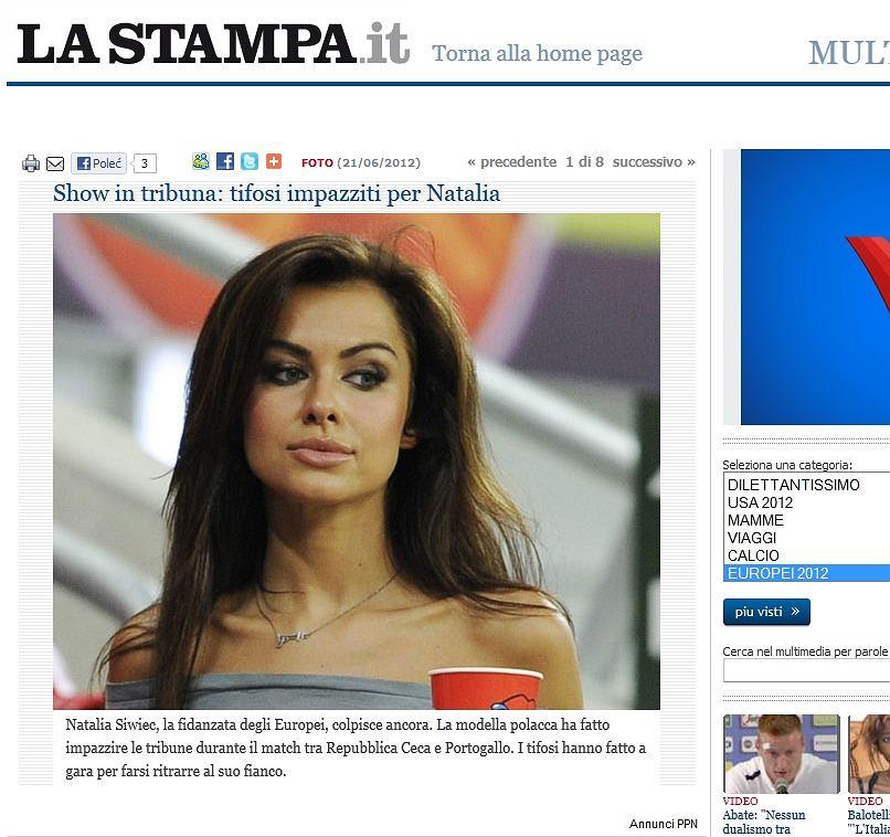 Natalia Siwiec na meczu Czechy - Portugalia