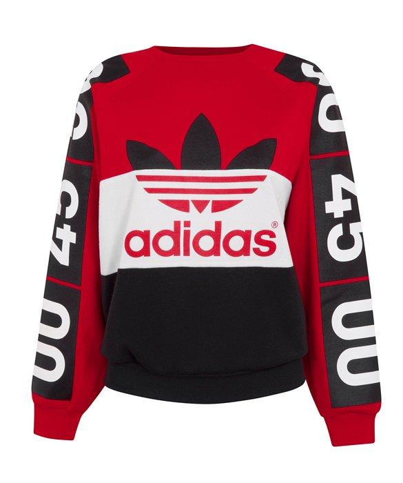 bluza adidas originals damska czerwona
