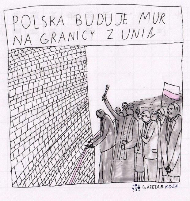 Koza o murze -  - Rys. Jan Koza
