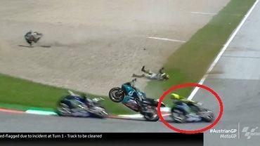 Valentino Rossi cudem uniknął tragedii w MotoGP w Austrii
