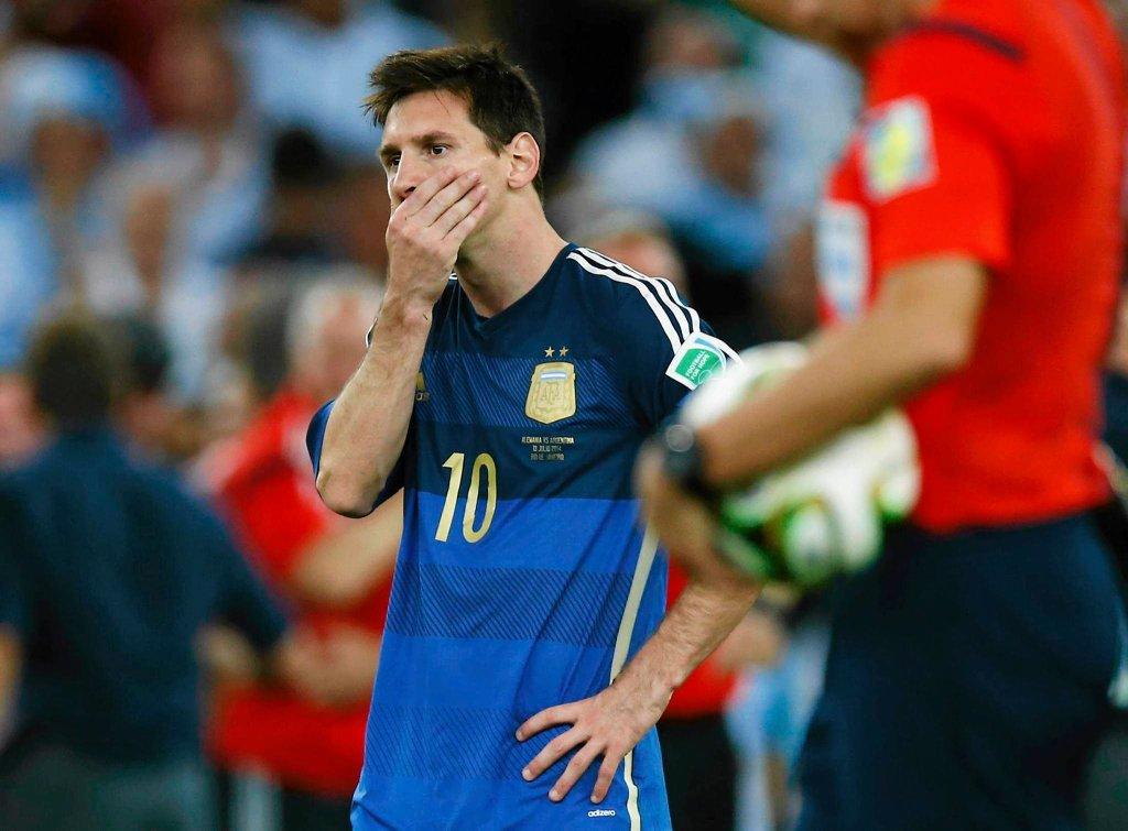 Smutny Lionel Messi