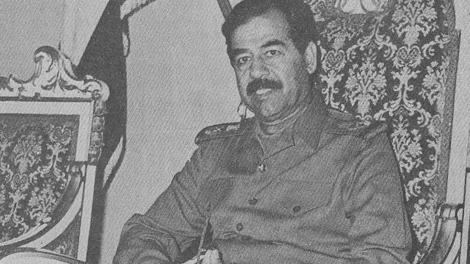 Saddam Husajn w 1988 roku