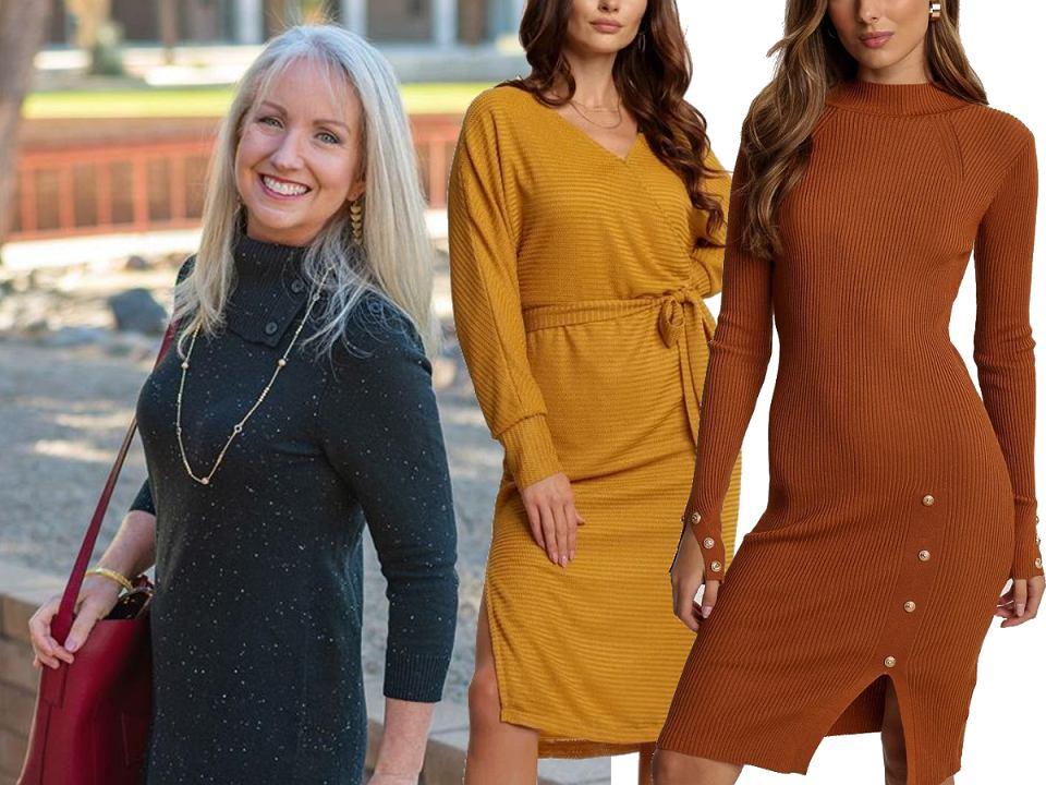 Sukienki dzianinowe dla dojrzałych kobiet
