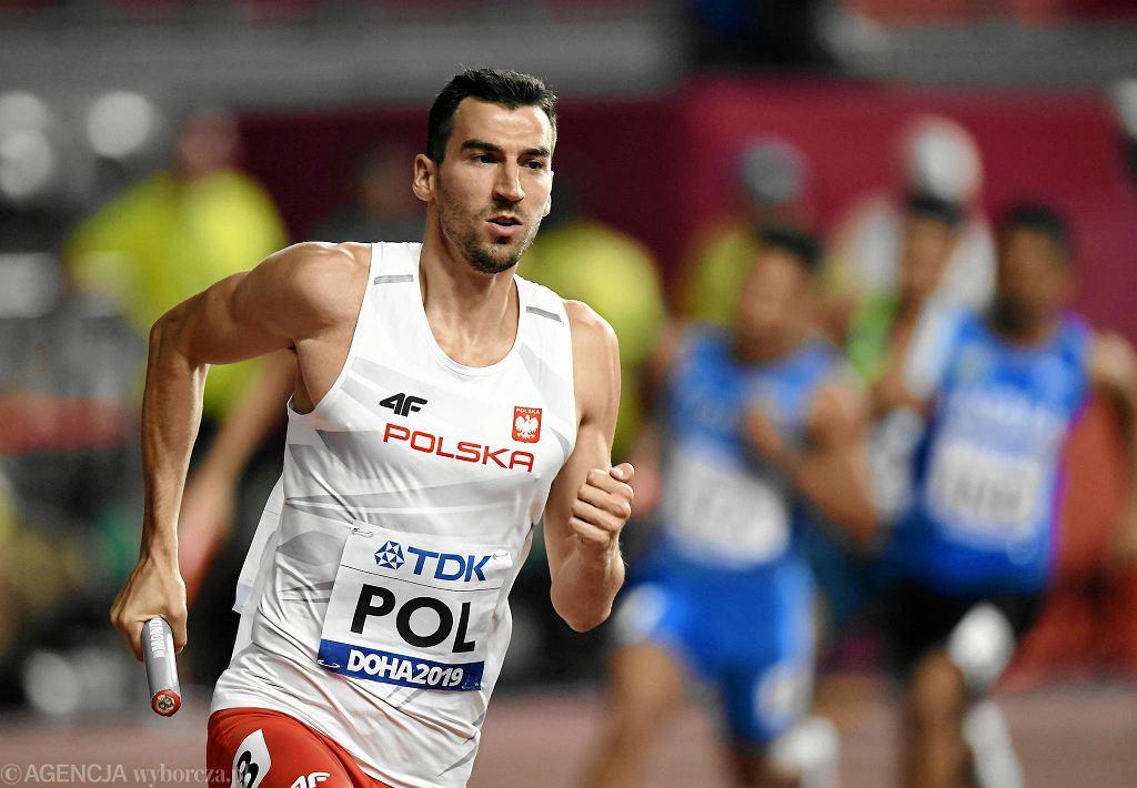 Rafał Omelko ze sztafety mieszanej 4x400 m. W niedzielę powalczy o medal