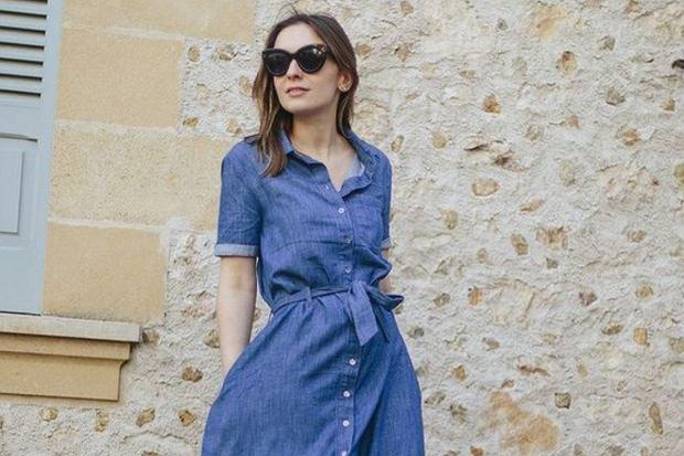jeansowe sukienki