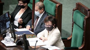 Marszałek Elżbieta Witek podczas 36 Posiedzenia Sejmu IX Kadencji, 11.08.2021 r.