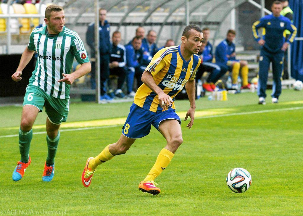 Arka Gdynia - Olimpia Grudziądz 0:2. Marcus da Silva