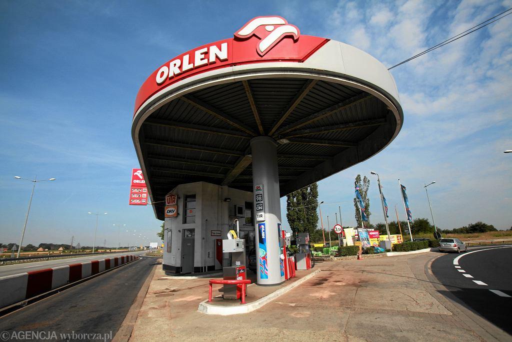 Stacja paliw Orlen przy autostradzie A4 pod Wrocławiem