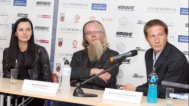 Od prawej: Mirosłąw Szymkowiak, Michał Sapota, wiceprezes Murapol SA i Paulina Włodarska, dyrektor marketingu w firmie Food Care