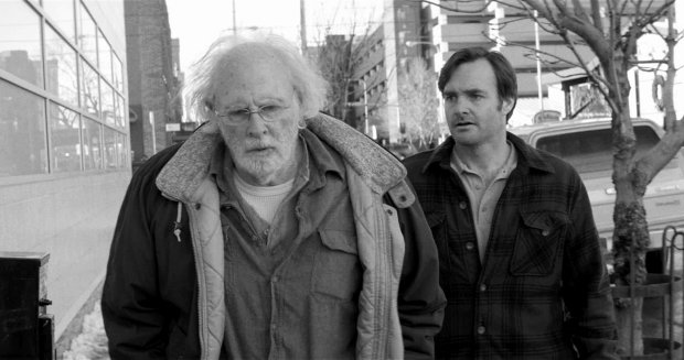 ";This image released by Paramount Pictures shows Bruce Dern as Woody Grant, left, and Will Forte as David Grant in a scene from the film Nebraska."" The film was nominated for an Academy Award for best picture on Thursday, Jan. 16, 2014. The 86th Academy Awards will be held on March 2. (AP Photo/Paramount Pictures)"