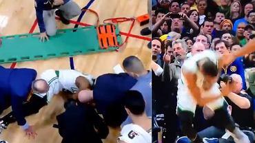 Chwile grozy w NBA. Gwiazdor Boston Celtics stracił przytomność po zderzeniu z kolegą. Przewieziono go do szpitala