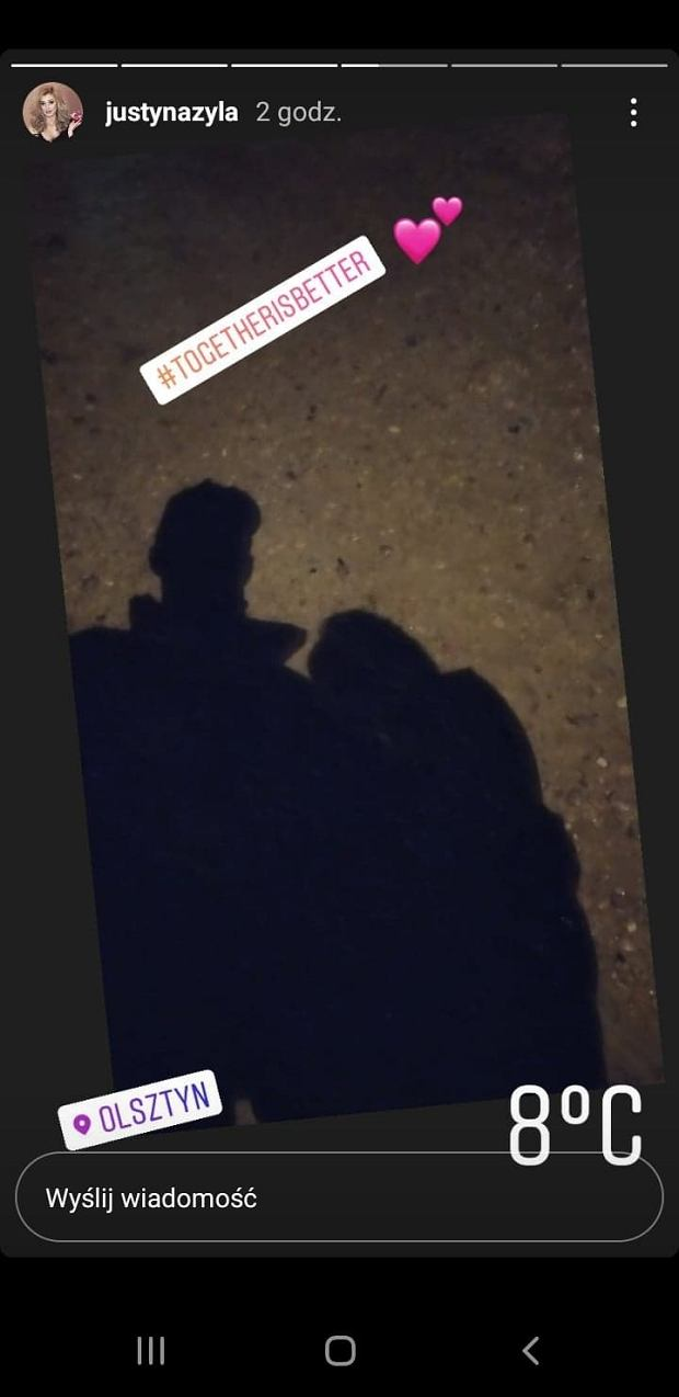 Justyna Żyła na randce z partnerem
