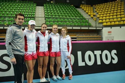 Dawid Celt, Iga Świątek, Magda Linette, Magdalena Fręch i Maja Chwalińska
