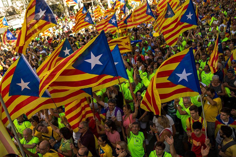 Poniedziałkowa manifestacja zwolenników niepodległości w Barcelonie