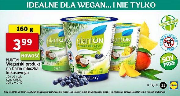 Zasmakuj w wege razem z Lidlem - jogurty PlantON