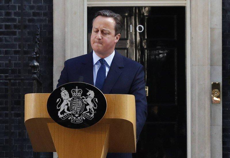 David Cameron po ogłoszeniu wyników referendum zapowiedział rezygnację z urzędu
