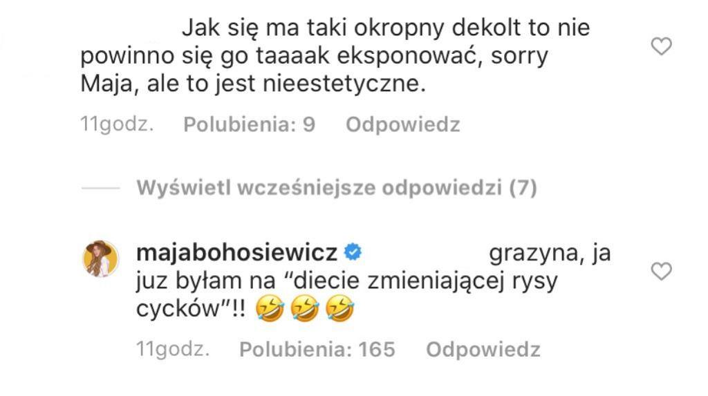 Maja Bohosiewicz odpowiada fance