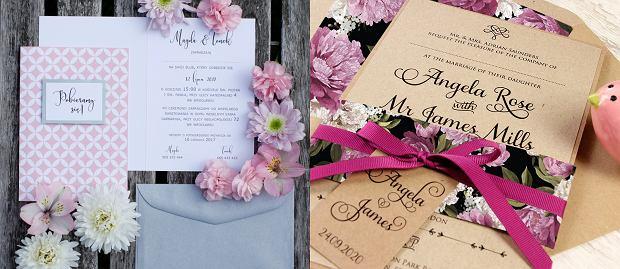 Zaproszenia ślubne: Koniczyna format B6 od 71 Prints, Rustykalne kwiaty od Cartalia