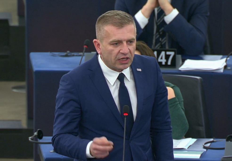 Bartosz Arłukowicz podczas debaty nt. praworządności w Parlamencie Europejskim