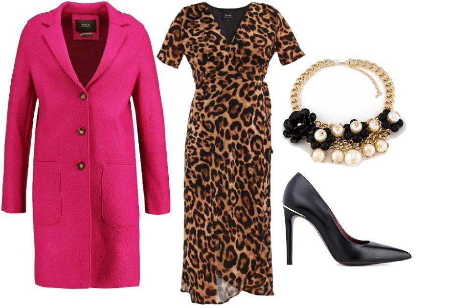 Sukienka w panterkę - stylizacja
