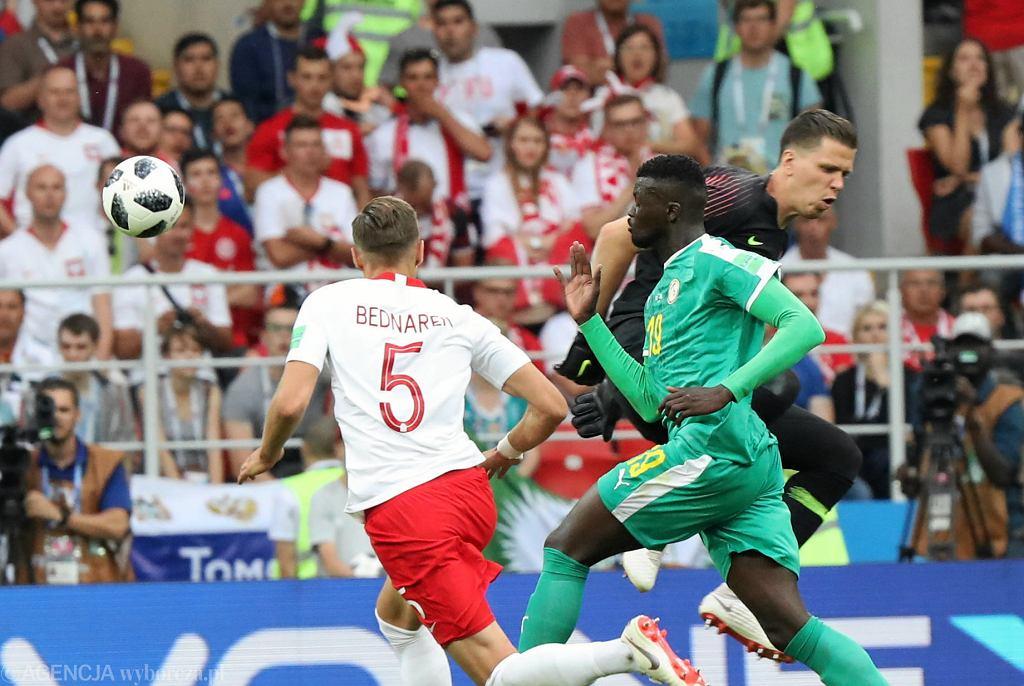 Jan Bednarek w meczu Polska-Senegal (1:2). Mistrzostwa Świata w Piłce Nożnej w Rosji, Moskwa, Stadion Spartaka, 19 czerwca 2018