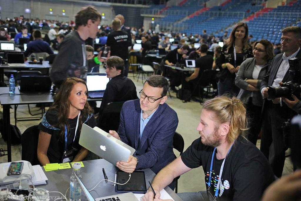 Wicepremier Mateusz Morawiecki odwiedził Hackathon