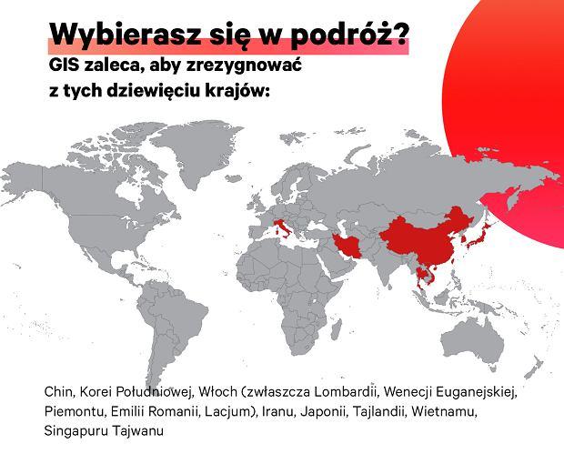 Dziewięć krajów, do których GIS odradza podróże