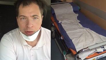 Kierowca z Polski opisał warunki w szpitalu we Włoszech.