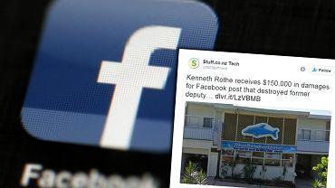 Autor wpisu na Facebooku zapłaci 150 tys. dolarów zadośćuczynienia