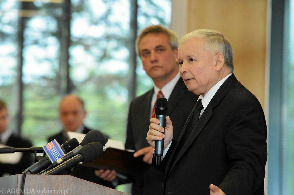 Jerzy Szmit i Jarosław Kaczyński podczas spotkania w olsztyńskim Hotelu Park.