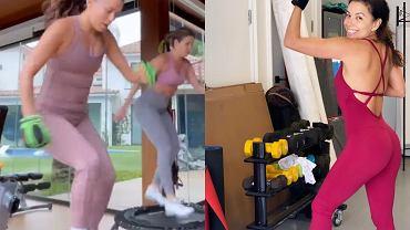 Eva Longoria uwielbia treningi na trampolinie
