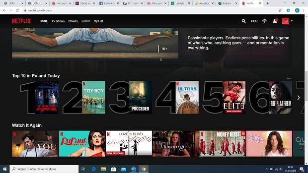 W lesie dziś nie zaśnie nikt - Netflix informuje, że to najpopularniejsza w tym momencie produkcja serwisu