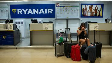Strajk pracowników linii lotniczej Ryanair, lotnisko w Madrycie, 25.07.2018