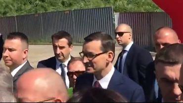 Prezydent Gdańska Aleksandra Dulkiewicz próbowała powitać premiera Mateusza Morawieckiego w Gdańsku i zaprosić go na obchody rocznicy wyborów 4 czerwca