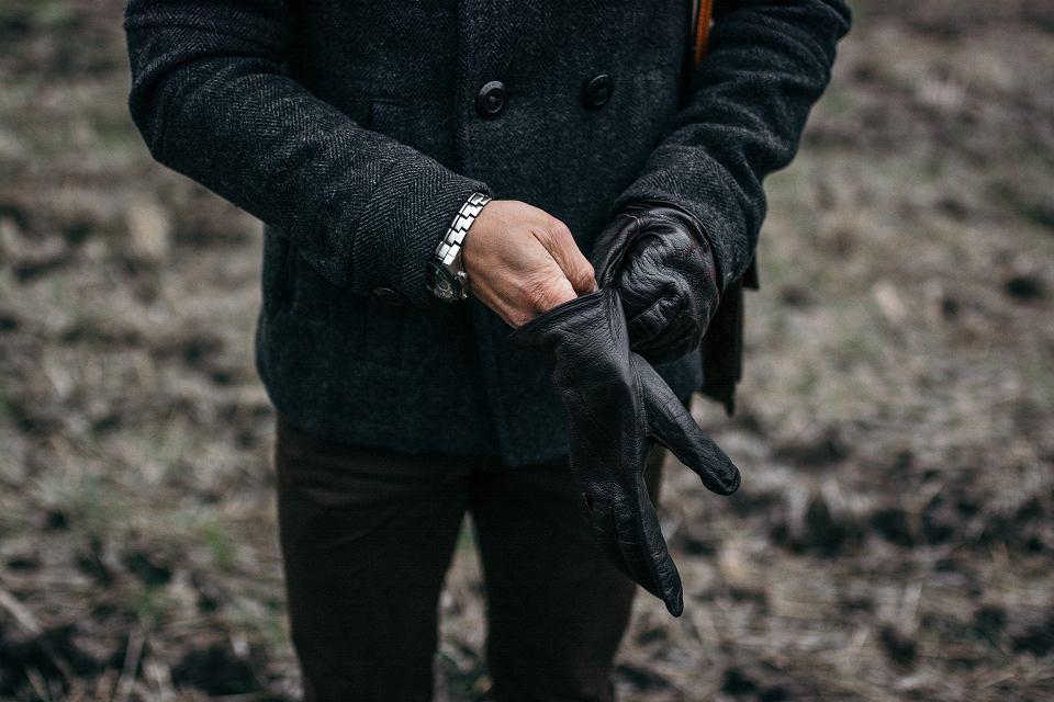 Eleganckie skórzane rękawiczki