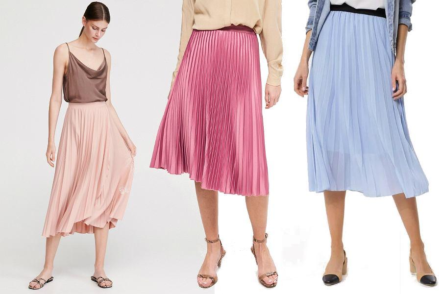 Plisowane spódnice wyszczuplające