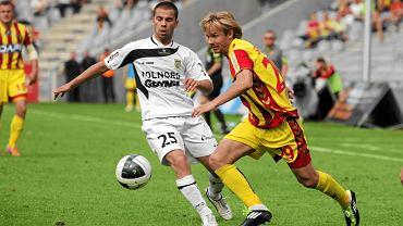 Na zdjęciu Filip Burkhardt w czasach gry w Arce Gdynia.