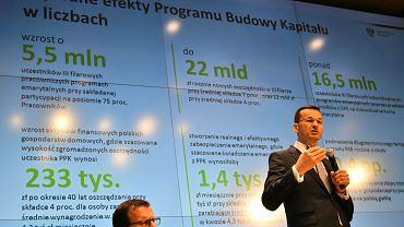 Konferencja ministra Mateusza Morawieckiego w Warszawie