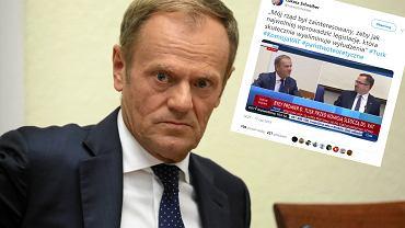 Donald Tusk i twitt Łukasza Schreibera