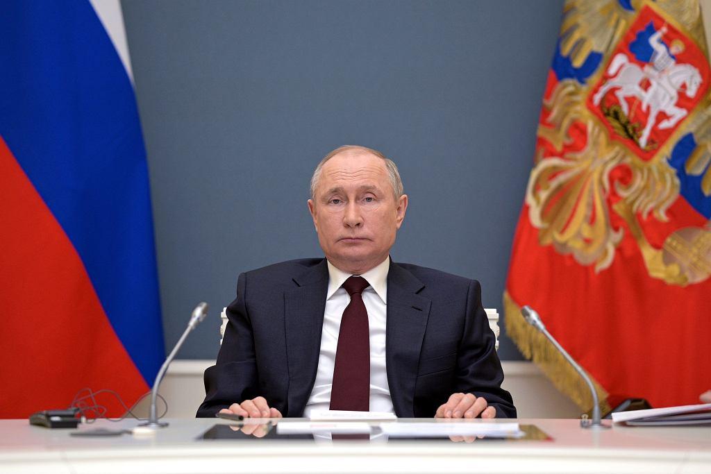 Władimir Putin podczas wirtualnego Szczytu Przywódców w sprawie Klimatu.