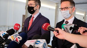 Waldemar Buda i rzecznik rządu Piotr Muller