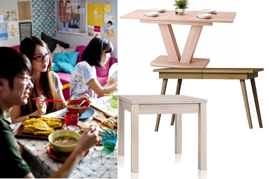 Stół rozkładany do małej kuchni