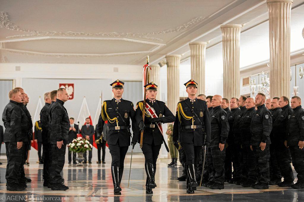 Pierwsze ślubowanie pracowników Straży Marszałkowskiej