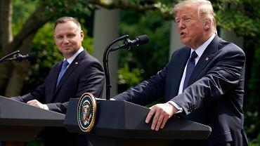 Donald Trump i Andrzej Duda.